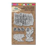 Textures Set by Andy Skinner (ASCRS12) Stampendous Christmas Cling Rubber Stamps