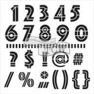 Crafters Workshop Template 6 inch by 6 inch - Mini Art Deco Numbers