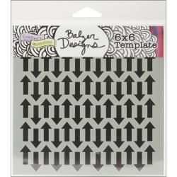Crafters Workshop Template 6 inch by 6 inch - Mini Chevron Arrows