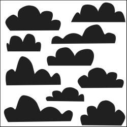 Crafters Workshop Template 6 inch by 6 inch - Mini Clouds