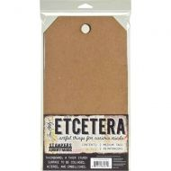 Tim Holtz (Max 1 per customer and UK only) Etcetera Medium Tag (2 pack) 6.5 inch by 12 inch THETC002