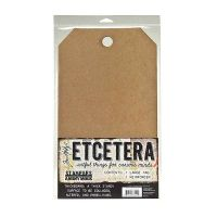 Tim Holtz (Max 2 per customer and UK only) Etcetera Large Tag (1 pack) 8.25 inch by 14.5 inch THETC001