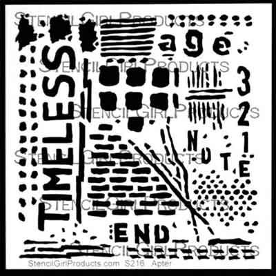 Timeless Stencil designed by Seth Apter for Stencil Girl (6 inch by 6 inch)