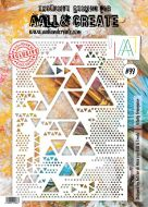 Totally Triangular Aall and Create A4 Stencil Autour De Mwa 99 (AAL10099)
