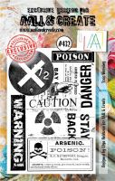 Toxic Warning No. 432 Aall and Create A7 sized stamp by Olga Heldwein (AAL00432)