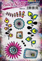 Tracy Scott TS018 (Was ETS18) PaperArtsy Cling Rubber Stamp Set