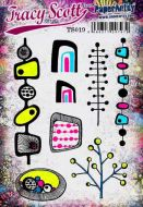 Tracy Scott TS019 (Was ETS19) PaperArtsy Cling Rubber Stamp Set