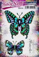 Tracy Scott TS026 (Was ETS26) PaperArtsy Cling Rubber Stamp Set