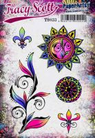 Tracy Scott TS033(Was ETS33) PaperArtsy Cling Rubber Stamp Set