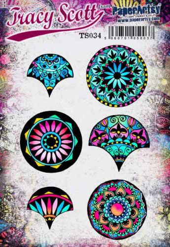 Tracy Scott TS034 (Was ETS34) PaperArtsy Cling Rubber Stamp Set