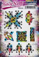 Tracy Scott TS038(Was ETS38) PaperArtsy Cling Rubber Stamp Set