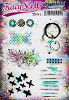 Tracy Scott TS041(Was ETS41) PaperArtsy Cling Rubber Stamp Set