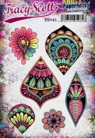 Tracy Scott TS045 (Was ETS45) PaperArtsy Cling Rubber Stamp Set