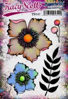 Tracy Scott TS047PaperArtsy Cling Rubber Stamp Set