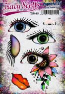 Tracy Scott TS048 PaperArtsy Cling Rubber Stamp Set
