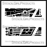 Urban Insiders Bar 6 inch by 6 inch Stencil (S268) by Seth Apter for StencilGirl