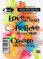 Create With Your Soul Stamp Set (VIS-CWS-01) by Visible Image