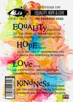 Equality Hope Love stamp set by Visible Image