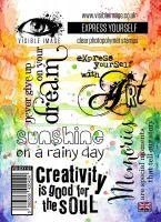 Express Yourself stamp set inspiring quotes