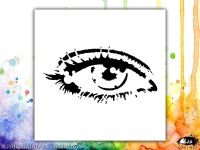 Eye Contact Visible Image Stencil