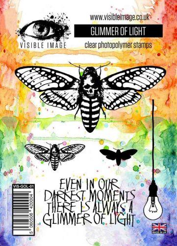 Glimmer of Light stamp set moth lightbulb