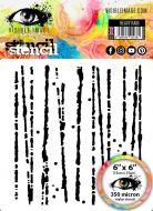 Heavy Rain Stencil Visible Image 2020 (VISHRA03)