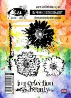 Imperfection is Beauty stamp set grungy flowers