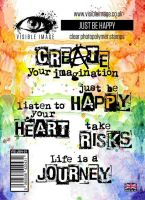 Just Be Happy stamp set inspiring quotes