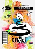 O Christmas Tree Visible Image (10cm x 7cm) stamp (VIS-OCT-01)
