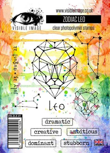 Zodiac Leo stamp set