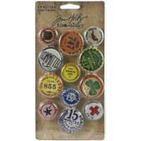 Vintage Flair Idea-Ology Metal Adornments 12/Pkg (TH94027)