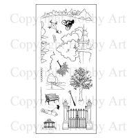 Walk in the Park Hobby Art Clear Stamp Set (CS085D)
