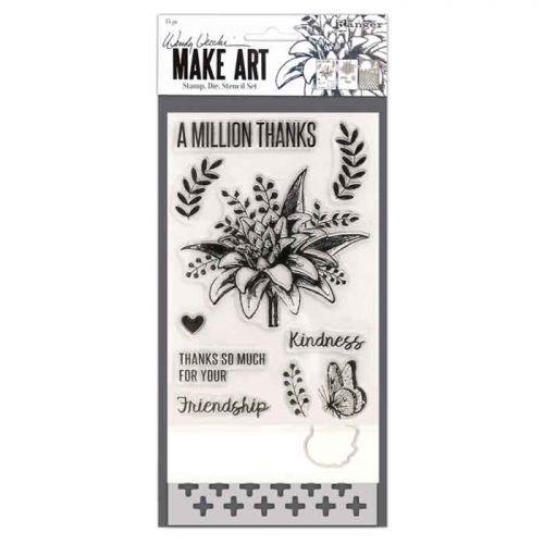 Wendy Vecchi Make mp Die Stencil Set - A Million Thanks