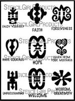 West African Symbols ATC Mixup 3 (L819) by Wendy Featherston and Trena Brannon for StencilGirl