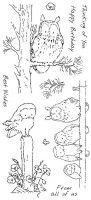 Woodland Owls Hobby Art Stamp Set (CS206D)