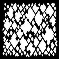"Diamond Mesh Stencil 6"" x 6"" Mask - Woodware"