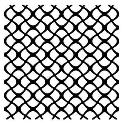 """Scaly Mesh Stencil 6"""" x 6"""" Mask - Woodware"""