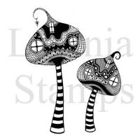 Zen Tall Mushrooms Lavinia Stamps (LAV317)