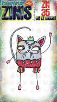 Zini ZN35 PaperArtsy 8cm by 5cm cling stamp