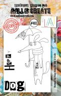 Happy Dog by Tracy Evans Aall and Create A7 stamp (AAL00483)
