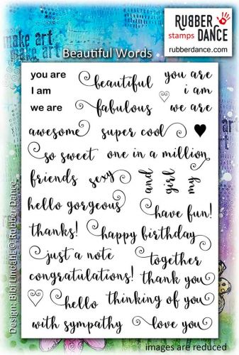 Rubber Dance Stamp Set- Beautiful Words
