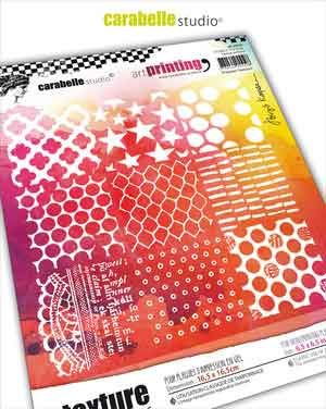 Carabelle Studio - Art Printing 6 inch square- 9 Square Textures by Birgit Koopsen (APCA60026)