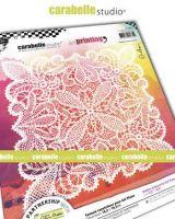 Carabelle Studio - Art Printing Square 6 inch - Napperon au crochet by Alexi (APCA60047)
