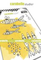 Carabelle Studio - Cling Stamp A6 - Keep Swimming by Kate Crane (SA60483)