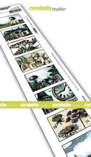 Carabelle Studio - Cling Stamp Edge - 8 labels - A Walk in France (SED0034)