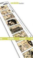 Carabelle Studio - Cling Stamp Edge - 8 labels - Leonardo da Vinci (SED0037)