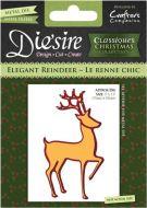 Crafters Companion Die'sire Die - Elegant Reindeer - DS-CX-REIND