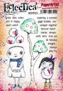 PaperArtsy - Darcy EDY23 A5 Cling Rubber Stamp Set