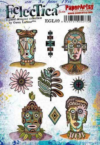 E Gwen Lafleur Paperartsy A5 Cling Rubber Stamp Set (EGL09)