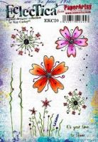 PaperArtsy -  Kay Carley - EKC20 A5 Cling Rubber Stamp Set
